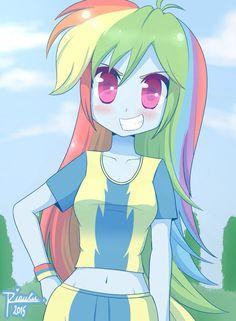 by Riouku on DeviantArt My Little Pony Comic, My Little Pony Drawing, My Little Pony Pictures, Rainbow Dash, Chica Anime Manga, Kawaii Anime, My Little Pony Wallpaper, Dream Anime, Mlp Fan Art
