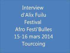 Alix Fuilu, auteur-illustrateur, président fondateur de l'association Afrobulles, présente la première édition d'un festival consacré à la bande dessinée africaine : Afro Festi'Bulles. Hôtel de Ville de Tourcoing, les 15 et 16 mars 2014.