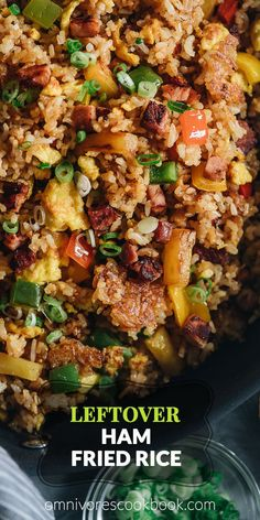 Hypoallergenic Pet Dog Food Items Diet Program Leftover Ham Fried Rice With Pineapple Omnivore's Cookbook Ham Fried Rice Recipe Easy, Easy Rice Recipes, Pork Recipes, Asian Recipes, Cooking Recipes, Healthy Recipes, Cookbook Recipes, Fried Rice Recipes, Asian Foods