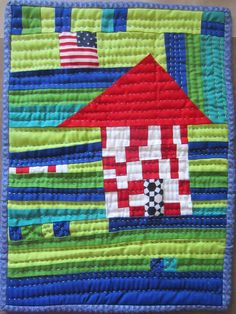 Patriotic House Quilt by Beth Shibley (California).  The House Quilt Project.