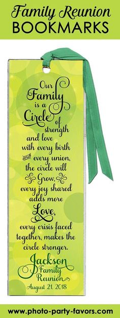 Family Reunion favors idea These bookmarks are with your family - Picnic decoration - Familie Family Reunion Quotes, Family Reunion Decorations, Family Reunion Favors, Family Reunion Activities, Family Reunion Invitations, Family Reunion Shirts, Family Games, Family Quotes, Family Reunions