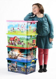 Concours : 4 boîtes de rangement Playmobil XL ferme, pirates, princesses ou chevaliers à gagner !
