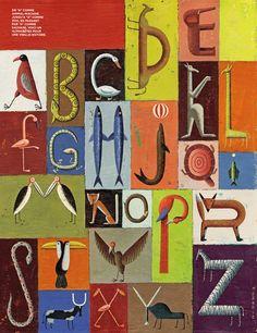 alphabet by Martin Jarrie Childrens Alphabet, Alphabet Book, Letter Symbols, Letter Art, Initial Fonts, Typography Alphabet, Creative Lettering, Lettering Styles, Art Brut