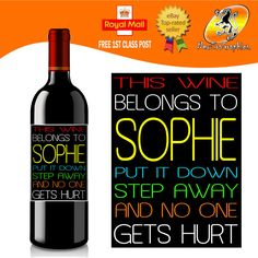 Funny Wine Labels | eBay