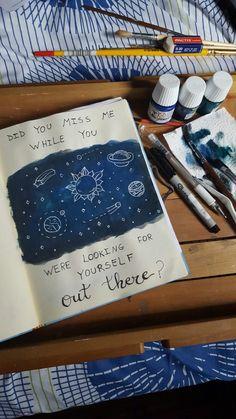 Journal #Space #Journal #BulletJournal Pinterest: @VirginiaaValoni V I R G I N I A