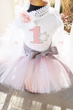 First Birthday tutu,  Winter Onederland tutu,and personalized bodysuit.with headband.  FROZEN first birthday outfit.
