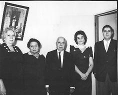 Margarita Cárdenas C. Paulita Castellanos, Leopooldo Cárdenas Reyes, Cuca González Arechiga y Leopoldo Romero C.