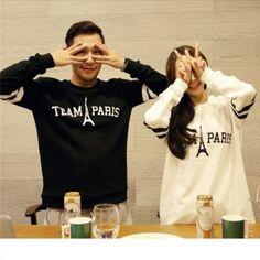 Fashion Eiffel Tower sweatshirts Team Paris letter printed sweatshirt