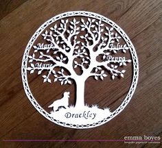 Papercut Family tree commission by Emma Boyes