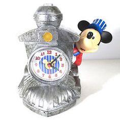 Mickey Mouse Train Engine Alarm Clock Engineer Disney Choo Choo Bell Sounds