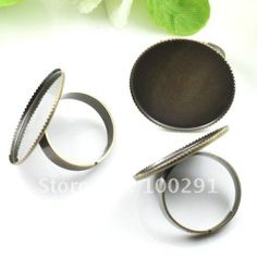 Free shipping!!!100piece/lot antique brass bronze adjustable ring base blank with 30mm pad Jewelry Findings Accessories