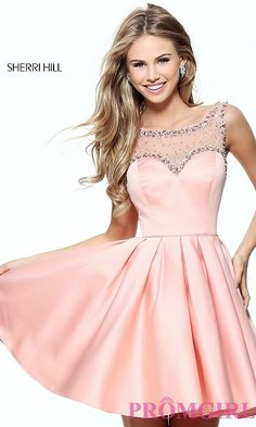 5ed05085d60 Short Sleeveless A-Line Prom Dress by Sherri Hill
