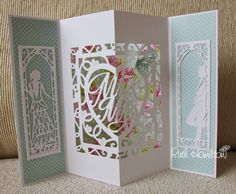 The gorgeous new Tonic Studios Silhouette Scene dies will be launched this evening on Ideal World at - they work so well with . Wedding Shower Cards, Wedding Cards, Fancy Fold Cards, Folded Cards, Pop Up, Tonic Cards, Studio Cards, Hand Made Greeting Cards, Wedding Anniversary Cards