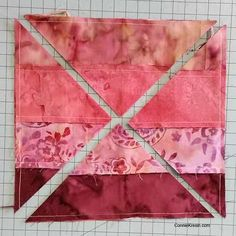 sewing block quilts Hidden Wells batik quilt block sew strips together - Quilt Block Hidden Wells in Batiks Tutorial is very fast and easy to make and each time you make it, it looks different!Hidden Wells batik quilt block sew strips together - this Batik Quilts, Jellyroll Quilts, Easy Quilts, Quilt Blocks Easy, Scrappy Quilts, Mini Quilts, Jelly Roll Quilt Patterns, Quilt Block Patterns, Pattern Blocks