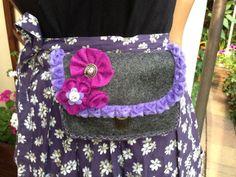 von mri: Dirndl-Tasche aus Filz mit Schnittmuster