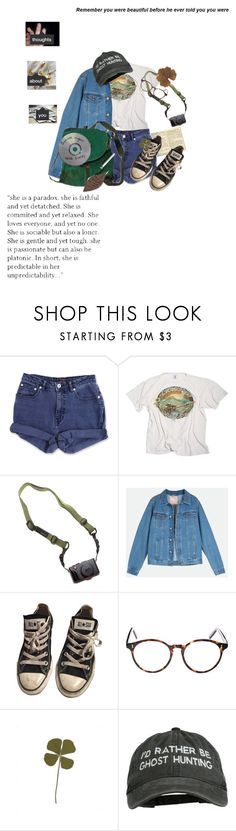 """""""thoughts about you"""" by sighsaturn ❤ liked on Polyvore featuring Moleskine, Jag, DSPTCH, Converse and Cutler and Gross"""