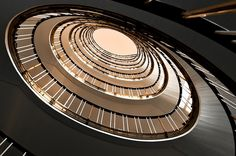 SPIRAL STAIRCASE BY FRANK MAHLER  the former administration building of preussag in hannover, germany (now ministery of economy and culture)
