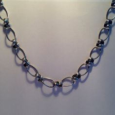 Edwardian chunky silver chain