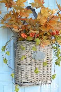 Fall Door Decor idea - basket