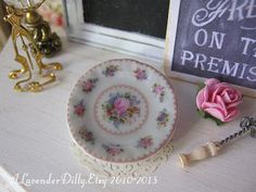 Classic Lady Carlyle Plate for Dollhouse by alavenderdilly on Etsy, $4.00