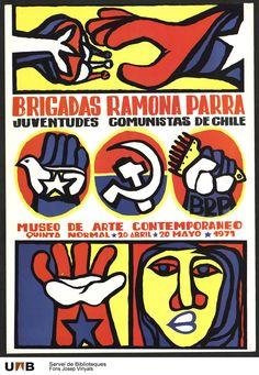 Brigadas Ramona Parra. Juvendutes communistas de Chile. 1971