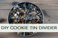 DIY Cookie Tin Divider