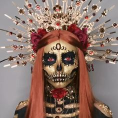 Amazing Halloween Makeup, Halloween Make Up, Halloween Face Makeup, Halloween Series, Halloween Inspo, Halloween Party, Gothic Makeup Tutorial, Flower Choker, Fantasy Makeup