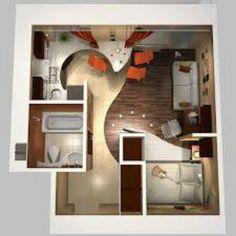 neat tiny apartment floorplan