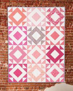 Quilt Big with Jemima Flendt Big Block Quilts, Modern Quilt Blocks, Cute Quilts, Modern Quilt Patterns, Scrappy Quilts, Patchwork Quilting, Block Patterns, Quilting Designs, Quilting Tips