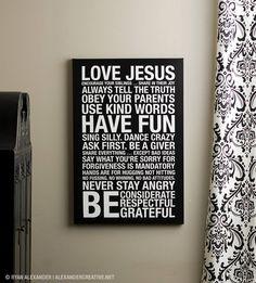 LOVE JESUS subway art
