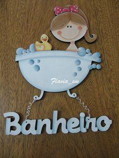 Flávia 616/Placa banheiro by flavia_sm1963, via Flickr