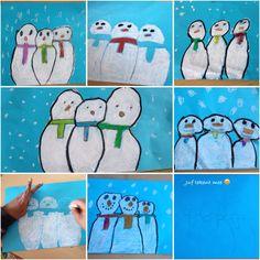 Vandaag winterse sferen tijdens de tekenles! #onderwijs