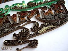 Stunning quilling - elements: EARTH ... love the details in this one!
