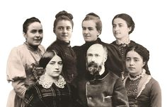 The Martin family-Sts. Zelie and Louis Martin, Pauline, Celine, St. Therese, Leonie and Marie.