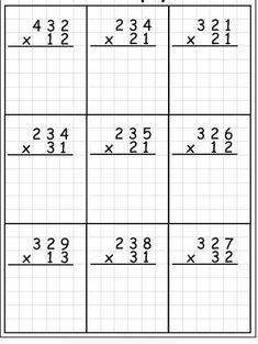 4th Grade Math Worksheets, Math Workbook, Printable Math Worksheets, Third Grade Math, Number Words Worksheets, Math For Kids, Grammar For Kids, Abacus Math, English Worksheets For Kids