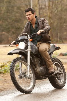 Jacob Black on his motorcycle