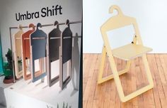 A chair you can fold up and hang in your closet