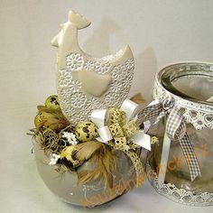 Velikonoční dekorace - Skořápka s kohoutkem