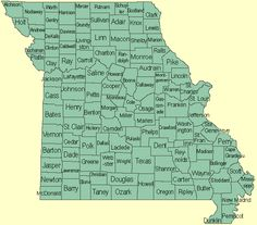 Directory of Missouri genealogy and historical societies by county.