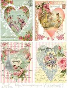 In the piggy bank decoupage prints templates of Victorian flowers . Discussion on LiveInternet - Russian Online Diaries Service Vintage Labels, Vintage Ephemera, Vintage Cards, Vintage Paper, Decoupage Vintage, Images Vintage, Vintage Pictures, Shabby Chic Paper, Etiquette Vintage