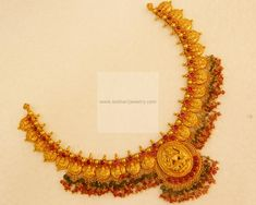 Necklaces / Harams - Gold Jewellery Necklaces / Harams at USD Gold Chocker Necklace, Gold Bangle Bracelet, Gold Bangles, Necklace Set, Gold Temple Jewellery, Gold Jewellery Design, Silver Jewellery, Gold Earrings Designs, Necklace Designs