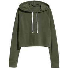 Short Hooded Sweatshirt $17.99 ($18) ❤ liked on Polyvore featuring tops, hoodies, sweatshirts, hooded sweatshirt, short tops, long sweatshirt, sweatshirt hoodies and raglan top