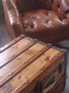 Restored antique trunk by the steamship trading co.  New Zealand