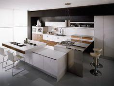 Cucina con penisola DALÍ Collezione Contemporary by Aran