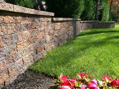 Stone walls give definition, privacy and support to your yard and patio design and add to the beauty of your property. Choose from textured concrete, natural stone or brick to complement your landscape design. By Nicolock.