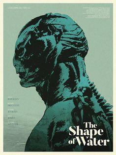 Resultado de imagem para the shape of water del toro movie poster