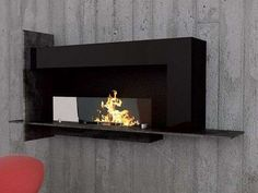 Eco-Chic Heaters - The Graffiti-Themed Biocamino Wall Fireplace Emanates Artistic Flair