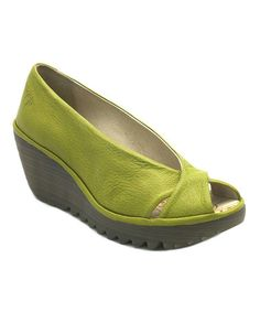 Take a look at this Pistachio Yaff Wedge by FLY London on #zulily today! Can't wait for mine to arrive, wanted the ones without a peep toe but couldn't find them in a 36 anywhere!!
