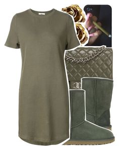 """""""Untitled #1072"""" by chynelledreamz ❤ liked on Polyvore featuring Tiffany & Co., Chanel, UGG Australia and 321"""