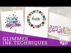 Today I am sharing several techniques for combining foil and die cutting. These techniques are easy to do and great for making clean and simple cards a little more fun! Card Making Tutorials, Making Ideas, Circle Doodles, The Die, Jennifer Mcguire Ink, Heart Stencil, Deco Foil, Embossing Machine, Foam Crafts